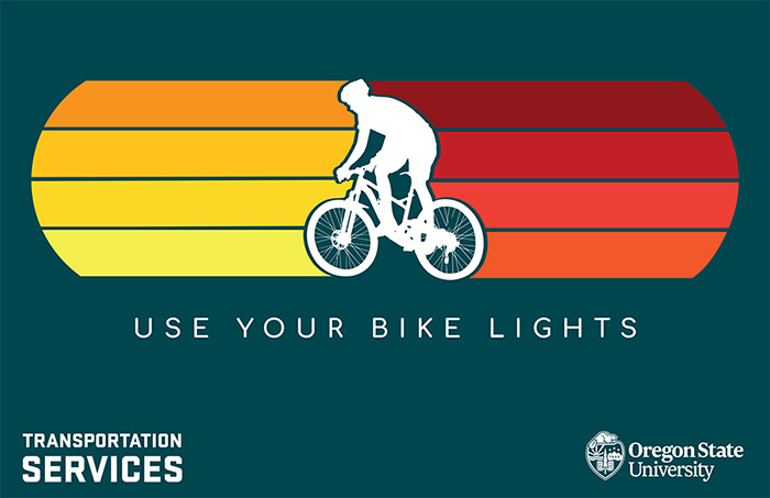 bike light awareness illustration