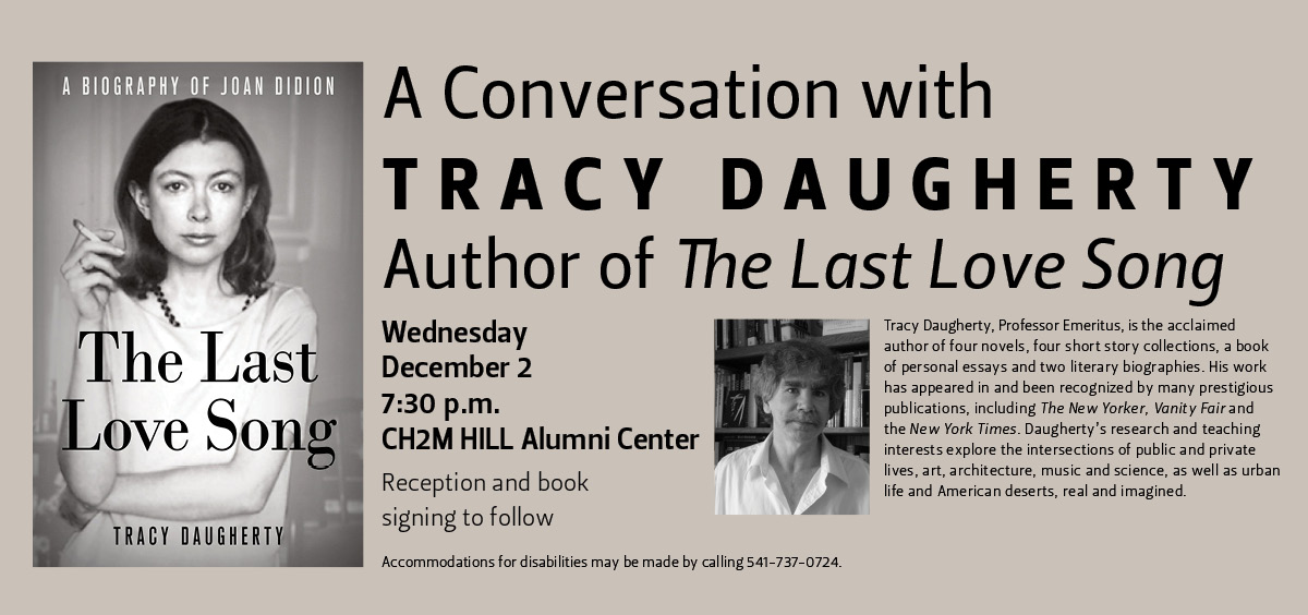 A Conversation with Tracy Daugherty