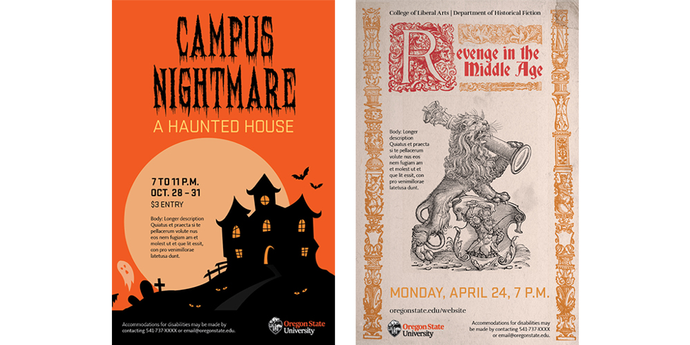 fonts that match illustrtion theme (Halloween and Olde English)