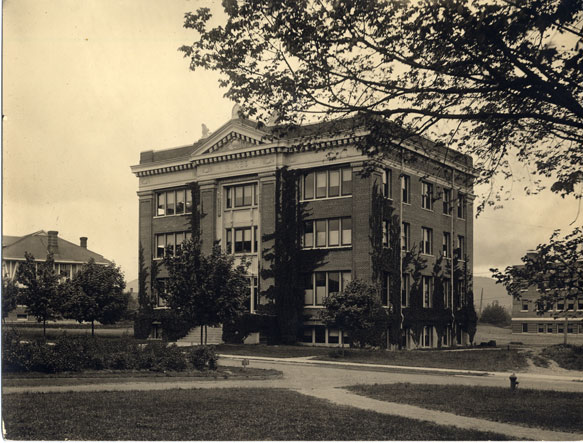 Old photo of Batcheller Hall