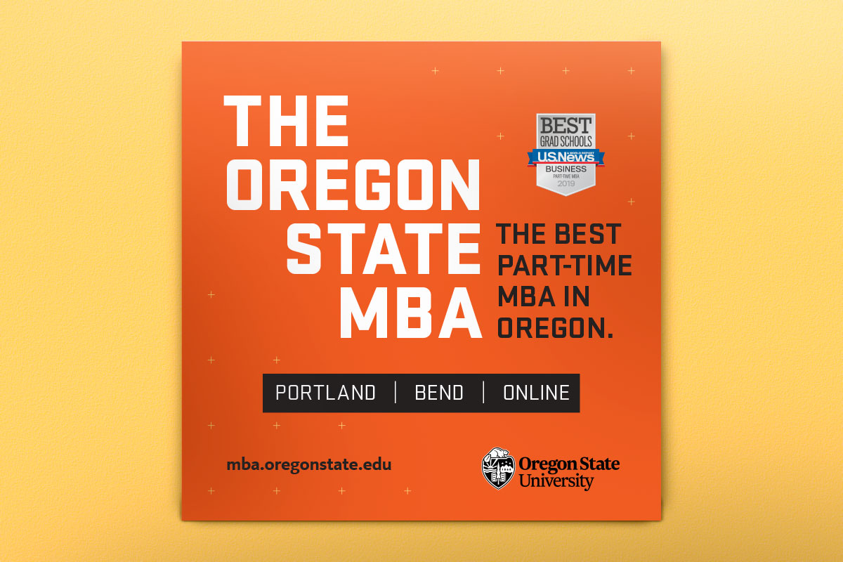 advertisement for oregon state mba