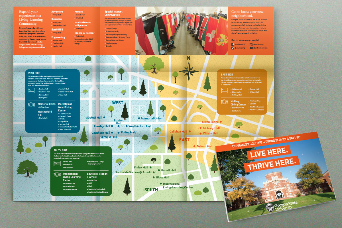 Housing and Dining fold out poster